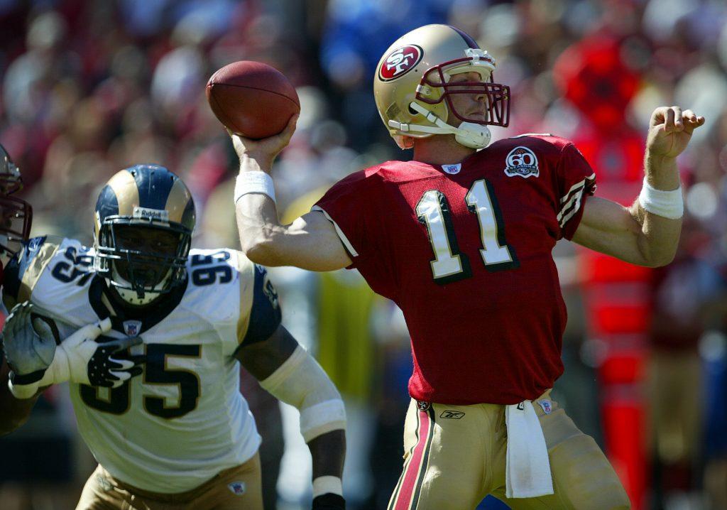 49ers quarterback Alex Smith.