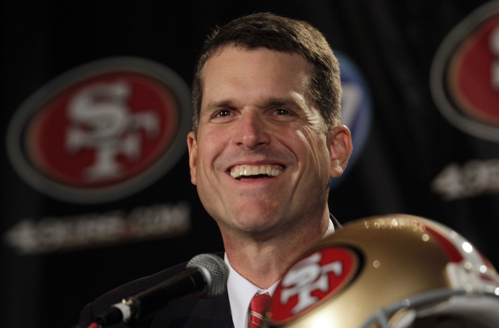 Jim Harbaugh -- AP