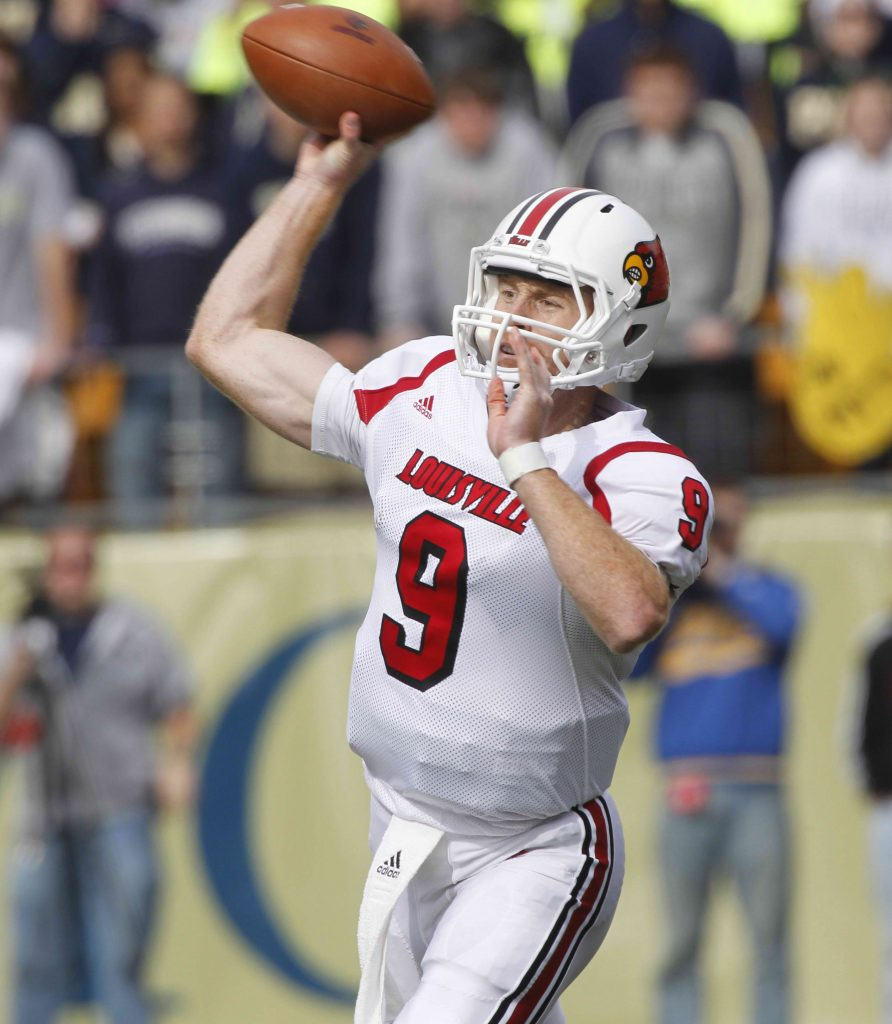 Which way will he go? Former Louisville quarterback Adam Froman will have a decision to make when the lockout ends. -- AP