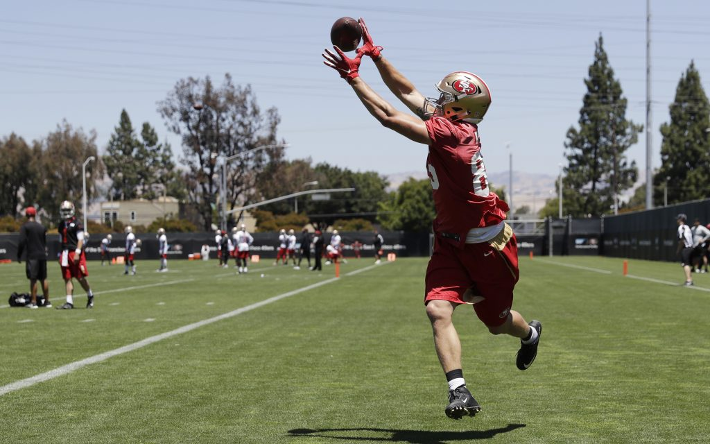 536e919d5 49ers minicamp report  George Kittle becomes an impact player