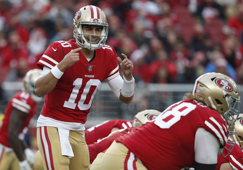 087f43bd Jimmy Garoppolo making clutch throws for 49ers