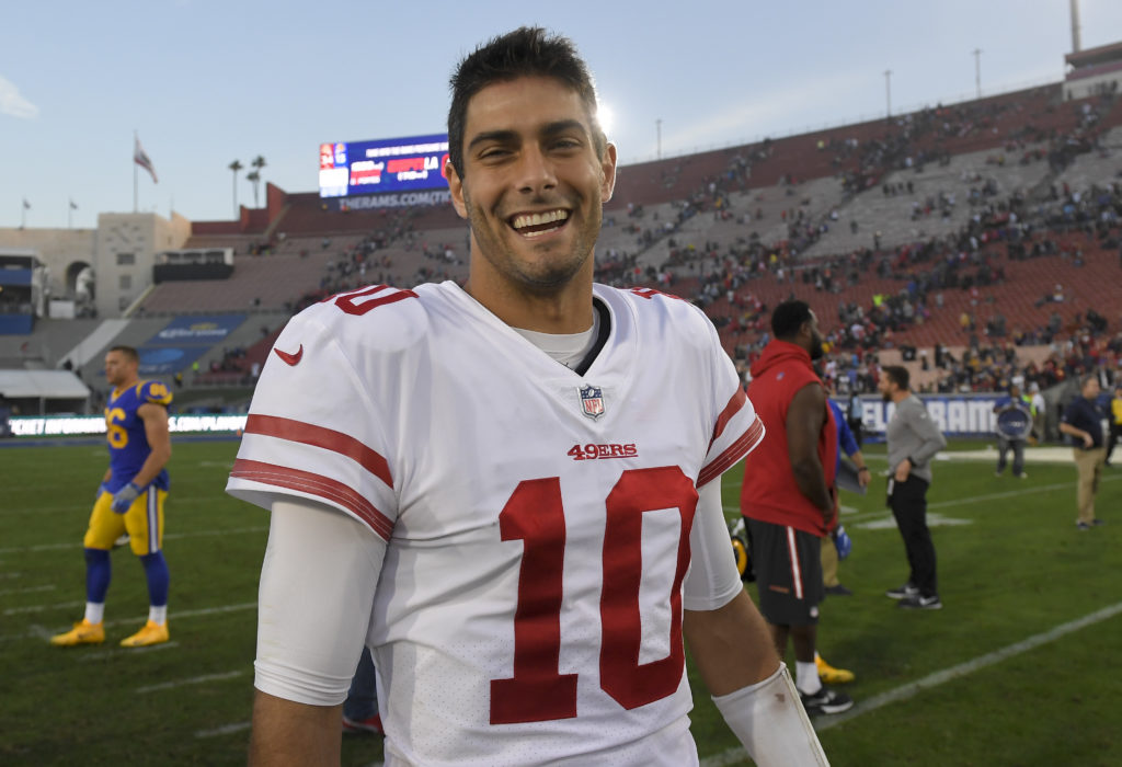 823d5709 Jimmy Garoppolo agrees to five-year contract with 49ers
