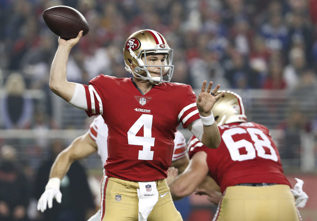 the best attitude 51679 34a6e 49ers sticking with Nick Mullens as starting quarterback