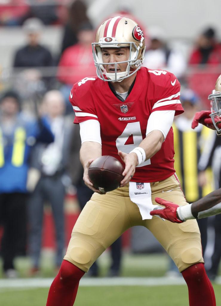 3f517af07 49ers quarterback Nick Mullens still fighting for backup role next year