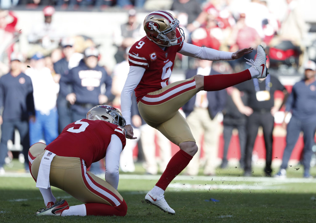 49ers use franchise tag on kicker Robbie Gould, per report
