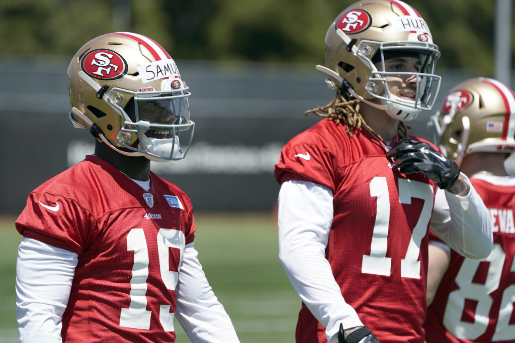 82e8c2bb One of these five 49er receivers could make big leap this season