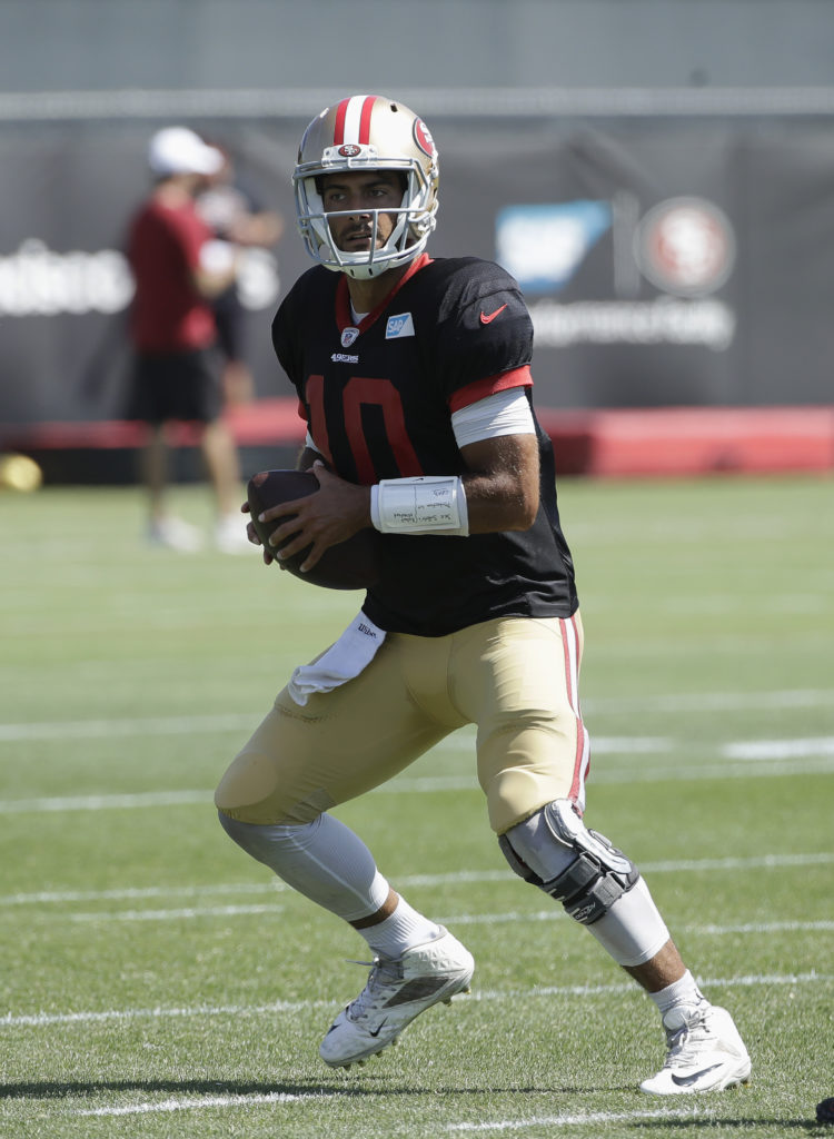 best website 080b8 0274f 49ers camp review: Jimmy Garoppolo has looked rusty